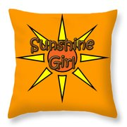 Sunshine Girl Throw Pillow