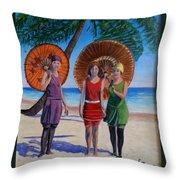 Sunshine Girls Throw Pillow