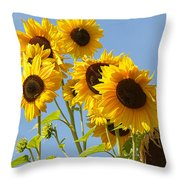 Sunshine Happy Throw Pillow