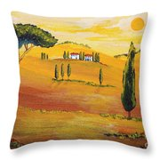 Sunshine In Tuscany In The Morning Throw Pillow