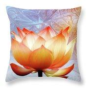 Sunshine Lotus Throw Pillow