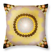 Sunshine Mandala Throw Pillow