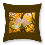 Sunshine On Apple Blossoms Throw Pillow