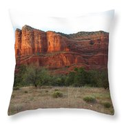 Sunshine On Courthouse Butte Throw Pillow
