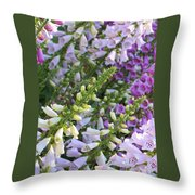 Sunshine On Foxgloves Throw Pillow