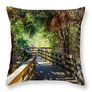 Sunshine On The Boardwalks Throw Pillow