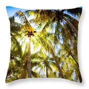 Sunshine Palms Throw Pillow