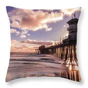 Sunshine Pier Throw Pillow
