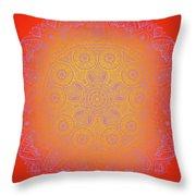 Sunshine Purple Mandala Throw Pillow