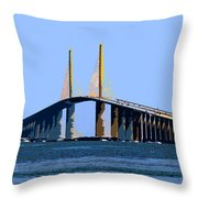 Sunshine Skyway Summer Throw Pillow