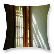 Sunshine Streaming Through Window Throw Pillow