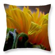 Sunshine Sunflower Petals Two Throw Pillow