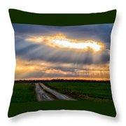 Sunshine Through The Clouds Throw Pillow