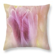 Sunshine Tulips Throw Pillow