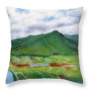 Sunspot Throw Pillow