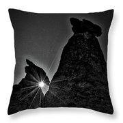 Sunstar At Tent Rocks Throw Pillow
