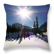 Sunstar Throws Long Shadows Throw Pillow