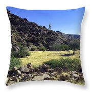 Sunup In Ghost Town Throw Pillow