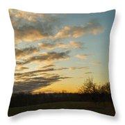 Sunup On The Farm Throw Pillow