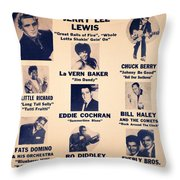 Super Attraction Poster Collection 5 Throw Pillow