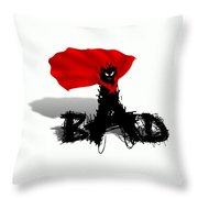 Super  Bad Throw Pillow