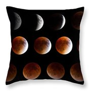 Super Blood Moon Eclipse Throw Pillow