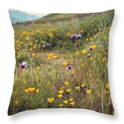 Super Bloom Throw Pillow