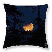 Super Blue Blood Moon Partial Eclipse Throw Pillow