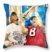 Super Bowl Legends Throw Pillow