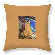 Super-cat Throw Pillow