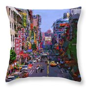 Super Colorful City Throw Pillow
