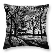 Super Contrasted Trees Throw Pillow