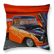 Super Cool Old Pickup Throw Pillow