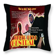 Super Hero Central Throw Pillow by The Scott Shaw Poster Gallery