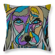 Super Hero - Contemporary Dog Art Throw Pillow