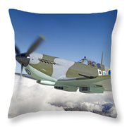Super Marine Spitfire Throw Pillow