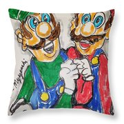 Super Mario Brothers Throw Pillow