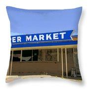 Super Market Throw Pillow
