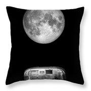 Super Moon Airstream 3 4 Throw Pillow