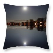 super moon night   Connecticut  Throw Pillow