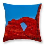 Super Moon Over Arches National Park Throw Pillow
