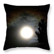 Super Moon Over British Columbia Throw Pillow