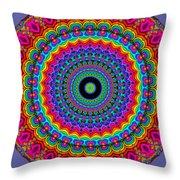 Super Rainbow Mandala Throw Pillow