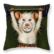 Super Rat Throw Pillow