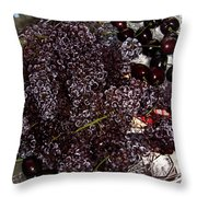 Super Small Grapes Throw Pillow