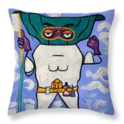 Super Tooth Throw Pillow