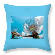 Super Tree Grove- Gardens By The Bay Throw Pillow