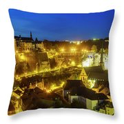 Superb Aerial View From Cite Judiciaire Throw Pillow
