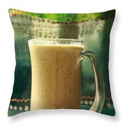Superfoods Smoothie Throw Pillow by Murtaza Humayun Saeed