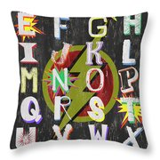 Superhero Alphabet Throw Pillow